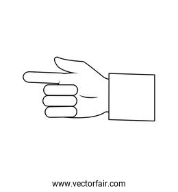 business man hand pointing successful design