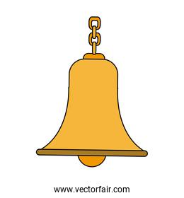 bell with chain antique traditional