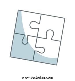 parts of paper puzzles business concept layout