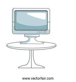 tv table technology entertainment screen device