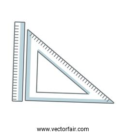 ruler and triangle measuring element