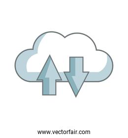 download and upload to cloud icon symbol
