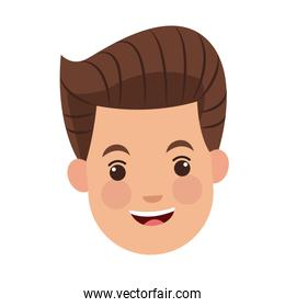 businessman character face male happy image