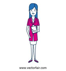 doctor female character medical staff
