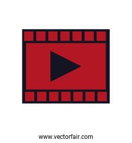 film strip with play video button