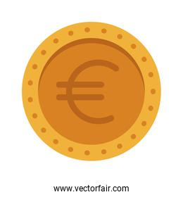 euro coin currency money cash icon