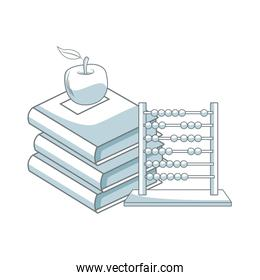 back to school books apple abacus elements