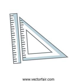 ruler and triangle ruler measure geometry elements