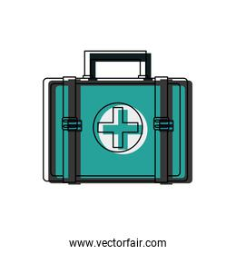 first aid kit medical emergency help attention icon