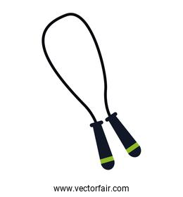 jump rope sport and fitness symbol stock