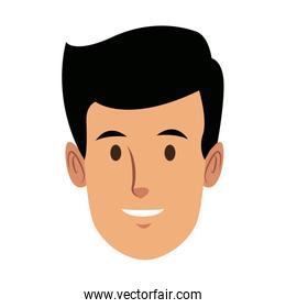 man employee face person character work