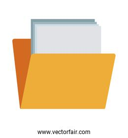 file folder with documents office data supplies