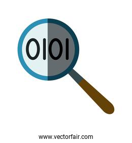 magnifier binary search looking for research technology
