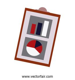 financial report business clipboard with financial data charts graphs