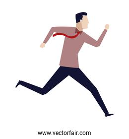 businessman running energetic dynamic concept