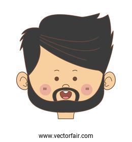 cartoon man face avatar character male cute