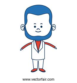 cute man cartoon standing formal clothes character