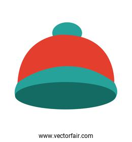 bright winter knitted hat accessory with pompon style