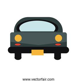 car icon front vehicle transport on white background