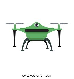 drone with action camera front view