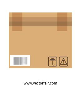 closed cardboard box cargo delivery pack
