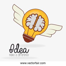 Idea design, vector illustration.