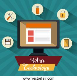 Retro and vintage technology graphic