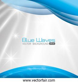 Blue waves design.