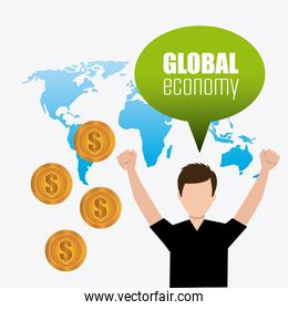Global economy, money and business