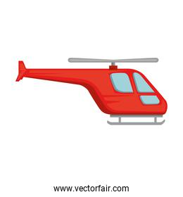 helicopter flying isolated icon