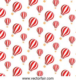balloons air hot flying pattern background