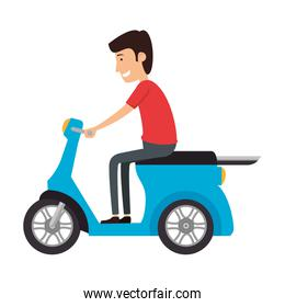 scooter bike with driver