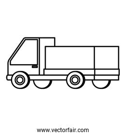 delivery service truck isolated icon