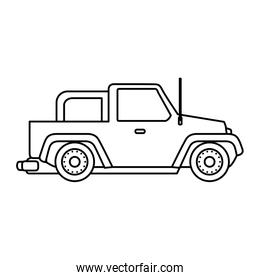 jeep 4x4 isolated design