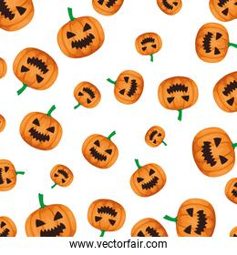 happy halloween pumpkin pattern