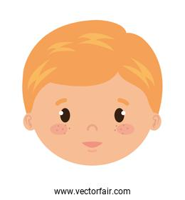 cute and little boy head character