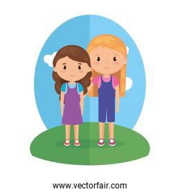 cute and little girls characters