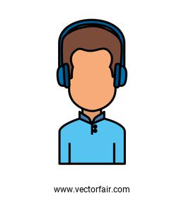 user avatar with headset