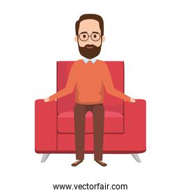 old man in the sofa avatar character