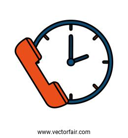 telephone with time clock