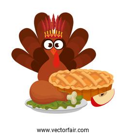 turkey with indigenus crown and delicious food