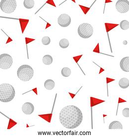 golf balls and flags pattern