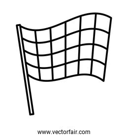 sport flag isolated icon
