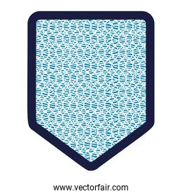 shield with textile pattern