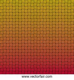 color and squares lines pattern