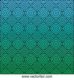color and circular lines pattern