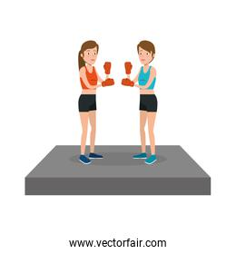 young woman lifting dumbbell