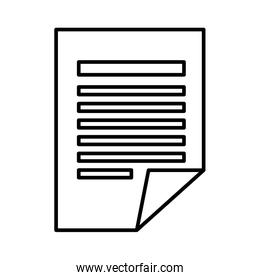 documents paper isolated icon