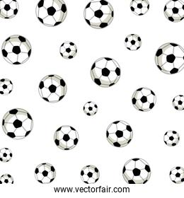 soccer balloons pattern background