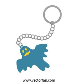 happy halloween keychain with ghost